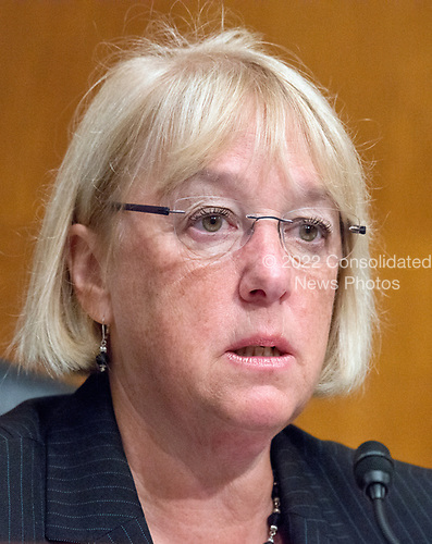 United States Senator Patty Murray (Democrat of Washington) Ranking Member, US Senate Committee on Health, Education, Labor, and Pensions, makes an opening statement as Patrick Pizzella testifies on his nomination as Deputy US Secretary of Labor; and Marvin Kaplan and William Emanuel testify on their nominations as Members of the National Labor Relations Board before the  committee on Capitol Hill in Washington, DC on Thursday, July 13, 2007<br /> Credit: Ron Sachs / CNP