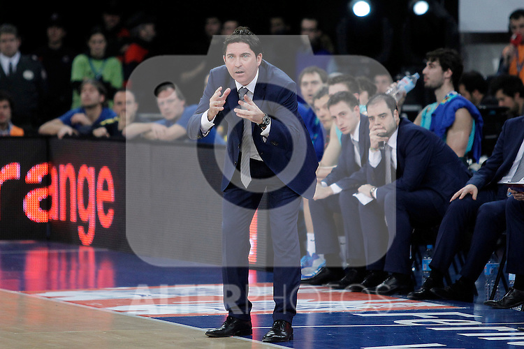 FC Barcelona Regal's coach Xavi Pascual during Spanish Basketball King's Cup semifinal match.February 07,2013. (ALTERPHOTOS/Acero)
