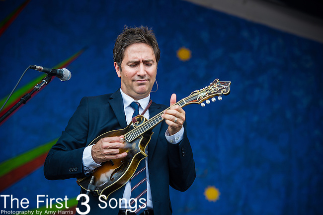 Keith Sewell performs with Lyle Lovett during the New Orleans Jazz & Heritage Festival in New Orleans, LA.