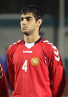 Aram Shakhnazaryan in the Scotland v Armenia UEFA European Under-19 Championship Qualifying Round match at New Douglas Park, Hamilton on 9.10.12.
