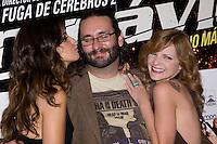26.07.2012. Premier at Palafox Cinema in Madrid of the movie 'Impavido´, directed by Carlos Theron and starring by Marta Torne, Selu Nieto, Nacho Vidal, Carolina Bona, Julian Villagran and Manolo Solo. In the image Marta Tome, Carlos Theron and Carolina Bona (Alterphotos/Marta Gonzalez) /NortePhoto.com <br /> <br /> **CREDITO*OBLIGATORIO** *No*Venta*A*Terceros*<br /> *No*Sale*So*third* ***No*Se*Permite*Hacer Archivo***No*Sale*So*third*©Imagenes*con derechos*de*autor©todos*reservados*.