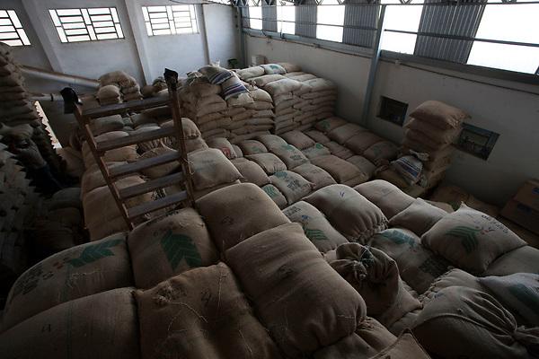 Poco Fundo _ MG, 08 Outubro de 2007<br /> <br /> Armazenagem de cafe em galpao.<br /> <br /> FOTO: JOAO MARCOS ROSA / AGENCIA NITRO)