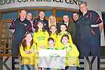DEVELOPMENT LAUNCH: Launching the new development plans for Tralee Dynamos and Kingdom Boys new soccer facility at Cahermoneen at the Brandon hotel on Friday pictured Ger Molony, Colm Clifford, Pa Daly, Noelle O'Brien, Tony Hynes (C.P.C.ie), Chris Kerins, Padraig Hartnett (PRO), Clodagh O'Sullivan, Sara Barrett, A?ine O'Sullivan, Rebecca McGovern, Shauna O'Sullivan and Katie Gunne.