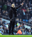 Manchester City Manager Josep Guardiola during the premier league match at the Etihad Stadium, Manchester. Picture date 16th December 2017. Picture credit should read: Robin ParkerSportimage