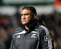 Aotearoa Fisheries Limited The Maori All Blacks European Tour. Maori All Blacks coach Jamie Joseph looks on during  Leicester Tigers and the Maori All Blacks at Welford Road, Leicester, England. 13 November. 2012.