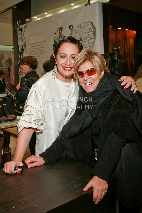 """Rebecca Moses and Suze Orman at the Rebecca Moses """"A Life of Style"""" book signing at Fratelli Rossetti Boutique, November 11, 2010."""