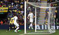 Federico Fernandez of Swansea City heads the ball towards goal during the Premier League match between Watford and Swansea City at Vicarage Road Stadium, Watford, England, UK. Saturday 15 April 2017