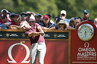 Joost Luiten (NED) in action on the 6th hole during second round at the Omega European Masters, Golf Club Crans-sur-Sierre, Crans-Montana, Valais, Switzerland. 30/08/19.<br /> Picture Stefano DiMaria / Golffile.ie<br /> <br /> All photo usage must carry mandatory copyright credit (© Golffile | Stefano DiMaria)