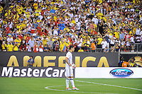 East Rutherford, NJ - Friday June 17, 2016: James Rodriguez during a Copa America Centenario quarterfinal match between Peru (PER) vs Colombia (COL) at MetLife Stadium.