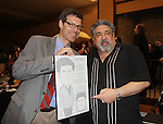Sopranos Vincent Pastore presented a drawing at Chiller Theatre's Spring Spooktacular on the weekend of April 27-29 at the Hilton Parsippany in Parsippany, New Jersey. (Photo by Sue Coflin/Max Photos)