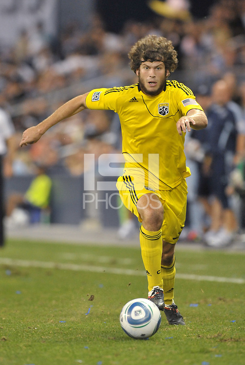 Columbus Crew forward Tommy Heinemann (32) in action... Sporting Kansas City defeat Columbus Crew 2-1 at LIVESTRONG Sporting Park, Kansas City, Kansas.