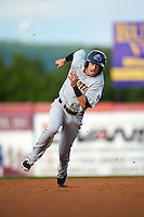 Trenton Thunder designated hitter Tyler Wade (22) running the bases during a game against the Binghamton Mets on August 8, 2015 at NYSEG Stadium in Binghamton, New York.  Trenton defeated Binghamton 4-2.  (Mike Janes/Four Seam Images)