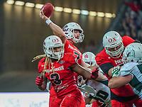 Pass von QB Brandon Cornette (Braunschweig Lions) - 12.10.2019: German Bowl XLI Braunschweig Lions vs. Schwäbisch Hall Unicorns, Commerzbank Arena Frankfurt
