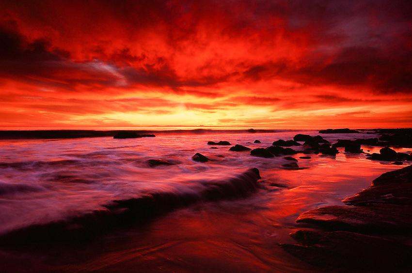 Winter Sunset            Crystal Cove State Park, CA Fuji Velvia 100 film