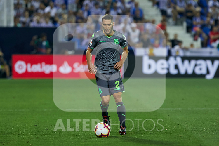 Real Sociedad's Joseba Zaldua during La Liga match. August 24, 2018. (ALTERPHOTOS/A. Perez Meca)