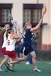 Santa Barbara, CA 02/18/12 - Amanda Hill (BYU #22) in action during the Arizona State vs BYU matchup at the 2012 Santa Barbara Shootout.  BYU defeated Arizona State 10-8.