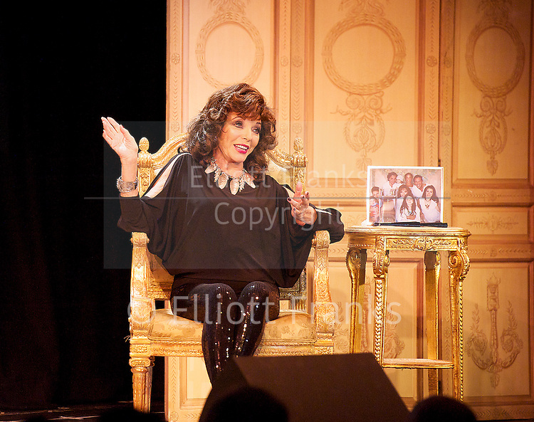 Joan Collins <br /> &quot;One Night with Joan&quot;<br /> at the Leicester Square Theatre, London, Great Britain <br /> 12th April 20013 <br /> <br /> Joan Collins<br /> <br /> Photograph by Elliott Franks