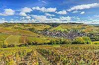France, Yonne(89), Irancy, le village et le vignoble en automne // France, Yonne, Irancy and the vineyard fall