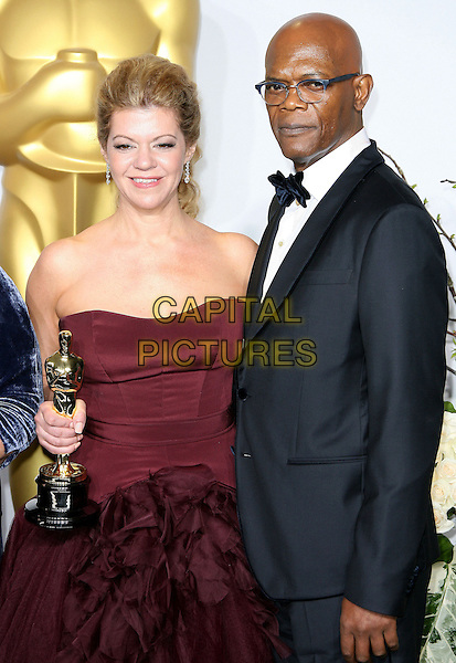 02 March 2014 - Hollywood, California - Robin Mathews, Samuel L. Jackson. 86th Annual Academy Awards held at the Dolby Theatre at Hollywood &amp; Highland Center. <br /> CAP/ADM<br /> &copy;AdMedia/Capital Pictures