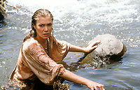 Romancing the Stone (1984) <br /> Kathleen Turner<br /> *Filmstill - Editorial Use Only*<br /> CAP/KFS<br /> Image supplied by Capital Pictures