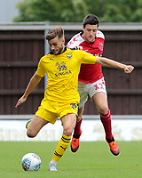 Fleetwood Town's Bobby Grant chases down Oxford United's Luke Garbutt<br /> <br /> Photographer David Shipman/CameraSport<br /> <br /> The EFL Sky Bet League One - Oxford United v Fleetwood Town - Saturday August 11th 2018 - Kassam Stadium - Oxford<br /> <br /> World Copyright &copy; 2018 CameraSport. All rights reserved. 43 Linden Ave. Countesthorpe. Leicester. England. LE8 5PG - Tel: +44 (0) 116 277 4147 - admin@camerasport.com - www.camerasport.com