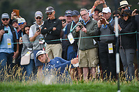 Jon Rahm (ESP) hits from the trap on 6 during round 2 of the 2019 US Open, Pebble Beach Golf Links, Monterrey, California, USA. 6/14/2019.<br /> Picture: Golffile | Ken Murray<br /> <br /> All photo usage must carry mandatory copyright credit (© Golffile | Ken Murray)