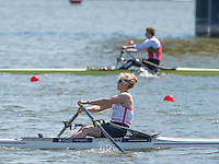 Brandenburg. GERMANY. GBR W1X Mathilda HODGKINS-BYRNE. 2016 European Rowing Championships at the Regattastrecke Beetzsee<br /> <br /> Saturday  07/05/2016<br /> <br /> [Mandatory Credit; Peter SPURRIER/Intersport-images]