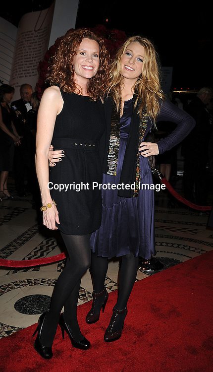 """actress Robyn Lively and sister Blake Livelyof """"Gossip Girl"""".at The New Yorkers for Children Fall Gala on September 16, 2008 at Ciprianis 42nd Street. ..Robin Platzer, Twin Images"""