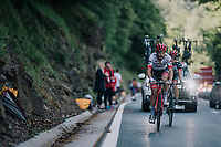 Julien Bernard (FRA/Trek-Segafredo) up the final climb of the day (in Spain!): the Col du Portillon (Cat1/1292m)<br /> <br /> Stage 16: Carcassonne > Bagnères-de-Luchon (218km)<br /> <br /> 105th Tour de France 2018<br /> ©kramon