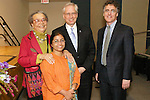 (L-R) John Jay Justice Award winners Mirian Wright Edelman, Dr. Sunitha Krishnan, and Thomas J. Dart (far right), with school President Jeremy Travis, at the John Jay Justice Award ceremony, April 5 2011.