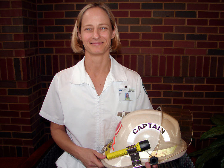 Jan Rader, the firefighter captain that attends OU Southern