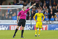 Referee Mr Tom Nield during the Sky Bet League 1 match between Peterborough and Oxford United at the ABAX Stadium, London Road, Peterborough, England on 30 September 2017. Photo by David Horn.