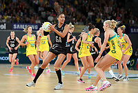 23.09.2018 Silver Ferns Maria Folau in action during the Silver Ferns v Australia netball test match at the Melbourne Arena in Melbourne, Australia. Mandatory Photo Credit ©Michael Bradley.
