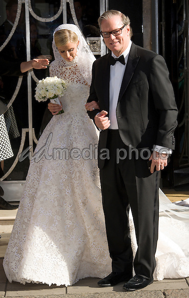10 July 2015 - London, England - James Rothschild and Nicky Hilton's Wedding. Photo Credit: Jeff Spicer/Alpha Press/AdMedia