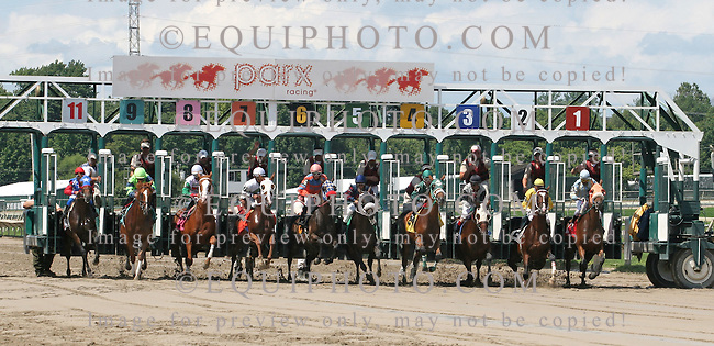 Action at Parx Racing in Bensalem, Pennsylvania Sunday July 29, 2012.  Photo By Barbara Weidl/EQUI-PHOTO