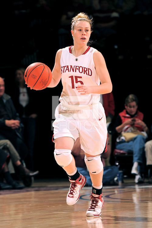 Stanford, CA - JANUARY 8:  Guard Lindy La Rocque #15 of the Stanford Cardinal during Stanford's 112-35 win against the Washington Huskies on January 8, 2009 at Maples Pavilion in Stanford, California.