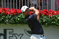 Paul Casey (GBR) watches his tee shot on 1 during round 2 of the 2019 Tour Championship, East Lake Golf Course, Atlanta, Georgia, USA. 8/23/2019.<br /> Picture Ken Murray / Golffile.ie<br /> <br /> All photo usage must carry mandatory copyright credit (© Golffile | Ken Murray)