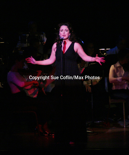 Melissa Errico performs Jerry Herman's Broadway with the National Symphony Orchestra at The John F. Kennedy Center for Performing Arts on March 14, 2009, in Washington D.C. (Photo by Sue Coflin/Max Photos)