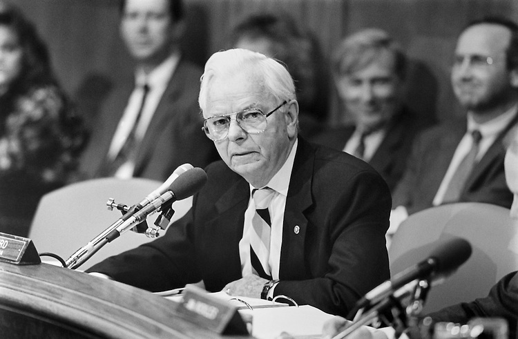 "Sen. Robert Carlyle ""Bob"" Byrd, D-W.Va. Chairing the Budget Appropriation Committee. Febuary 21, 1994 (Photo by Chris Martin/CQ Roll Call)"