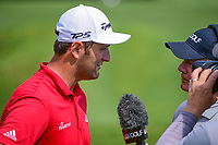 Jon Rahm (ESP) during a post match interview following  round 6 of the World Golf Championships, Dell Technologies Match Play, Austin Country Club, Austin, Texas, USA. 3/26/2017.<br /> Picture: Golffile | Ken Murray<br /> <br /> <br /> All photo usage must carry mandatory copyright credit (&copy; Golffile | Ken Murray)