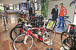 Visit to the Colnago museum, Cambiago, Italy. 15th October 2018.<br /> Picture: Eoin Clarke | Cyclefile<br /> <br /> <br /> All photos usage must carry mandatory copyright credit (&copy; Cyclefile | Eoin Clarke)