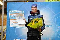 SCHAATSEN: DEVENTER: IJsbaan De Scheg, 16-10-2016, Holland Cup, Reina Anema, baanrecord 3000m, ©foto Martin de Jong