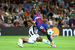 UEFA Champions League 2017/2018 - Matchday 1.<br /> FC Barcelona vs Juventus Football Club: 3-0.<br /> Alex Sandro vs Ousmane Dembele.