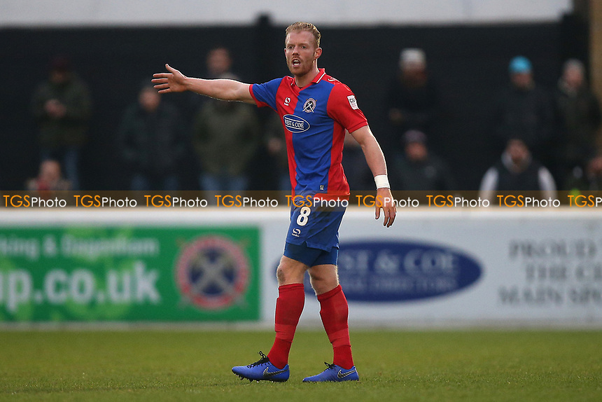 Kenny Clark of Dagenham during Dagenham & Redbridge vs Boreham Wood, Vanarama National League Football at the Chigwell Construction Stadium on 5th January 2019