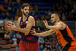 FC Barcelona Lassa's Stratos Perperoglou during the match of Endesa ACB League between Fuenlabrada Montakit and FC Barcelona Lassa at Fernando Martin Stadium in fuelnabrada,  Madrid, Spain. October 30, 2016. (ALTERPHOTOS/Rodrigo Jimenez)