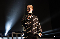 SAN JOSE, CA - DECEMBER 1: Corbyn Besson of Why Don't We performs onstage at The SAP Center during the 99.7 Now POPTOPIA in San Jose, California. <br /> CAP/MPI/IS/CT<br /> &copy;CT/IS/MPI/Capital Pictures