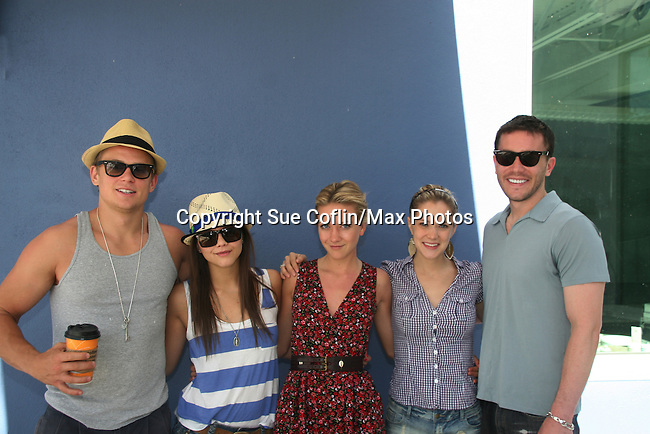 As The World Turns' Billy Magnussen - Alex Chando - Meredith Hagner - Marnie Schulenburg - Tom Pelphrey donate their time at the 12th Annual SoapFest - Painting Party to benefit Marco Island YMCA, theatre program & Art League of Marco Island on May 15, 2010 on Marco Island, FLA. (Photo by Sue Coflin/Max Photos)