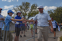 Chez Reavie (USA) high fives fans as he departs the 10th tee  during day 2 of the World Golf Championships, Dell Match Play, Austin Country Club, Austin, Texas. 3/22/2018.<br /> Picture: Golffile | Ken Murray<br /> <br /> <br /> All photo usage must carry mandatory copyright credit (&copy; Golffile | Ken Murray)