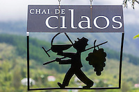 France, île de la Réunion, Parc national de La Réunion, classé Patrimoine Mondial de l'UNESCO, Cirque de CIlaos, Cilaos: Enseigne du Chai de Cilaos, Le Cilaos est un vin de pays,  vin de montagne produit dans le cirque de Cilaos, à la Réunion. C'est l'un des seuls vins français produits dans l'hémisphère sud. Il bénéficie d'une IGP.<br />     //  France, Reunion island (French overseas department), Parc National de La Reunion (Reunion National Park), listed as World Heritage by UNESCO, cirque of Cilaos,  Cilaos: Teaches Chai Cilaos, The Cilaos is a wine country, mountain wine produced in Cilaos, Reunion. This is one of the only French wines produced in the southern hemisphere. It enjoys an IGP.