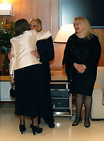02-11-2018 Spain Queen Sofia (L) greets Indian conductor Zubin Mehta (C) and his wife Nnacy Kovack (R), during a concert offered by the orchestra of Reina Sofia Music academy on the occasion of the 80th anniversary of Queen Sofia in Madrid, Spain<br /> <br /> .<br /> .